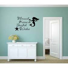 Rosecliff Heights Mermaid Kisses And Starfish Wishes Wall Decal Wayfair