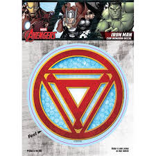 Marvel St Mavas Irnmlogo 6 X 8 In Iron Man Reactor Logo Car Window Decal Walmart Com Walmart Com
