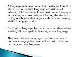 Chapter 4: Creating a Language-Rich Environment - ppt download