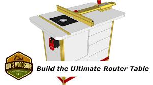 How To Build The Ultimate Router Table With Incra Pt 1 Youtube