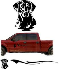 Black Yellow Lab Hunting Dog Trailer Decals Truck Decal Side Set Vinyl