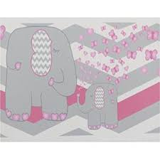 Presto Wall Decals Elephant Jungle Safari Border Wall Decals Pink And Grey Chevron Border With Pink Hearts And Butterflies