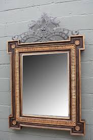 large scale wood carved mirror with