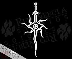 Inquisition Sword Vinyl Decal Red Nebula Studios