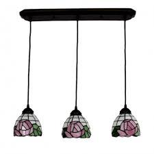 pink rose suspended light tiffany