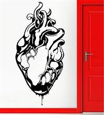 Amazon Com Vinyl Decal Quote Art Wall Sticker Mirror Decal Medical Heart Gothic Grunge Youth Cool Home Kitchen