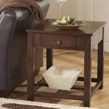 marion rectangular end table dark