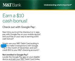 expired targeted m t bank 10 bonus
