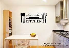 Personalized Kitchen Wall Decal Kitchen Decals Wall Etsy