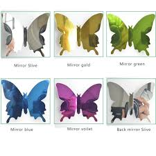 12pcs Set Butterflies Reflective Pet Wall Mirror Decal Wall Art Decor Self Adhesive 3d Butterfly Mirror Wall Stickers Buy 3d Butterfly Stickers Wall Mirror 3d Butterfly Stickers 3d Butterfly Stickers For Baby Bedroom Decoration Product