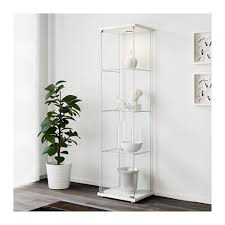 ikea detolf white glass door cabinet