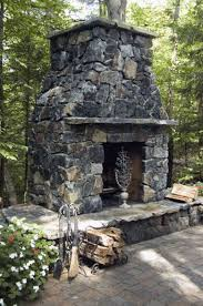 outdoor rustic fireplace mantels