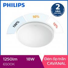 Đèn ốp trần Philips LED 3 cấp độ sáng Cavanal 31809 18W 6500K- Ánh ...