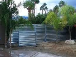 Corrugated Metal Fence Design Ideas Pictures Remodel And Decor Corrugated Metal Fence Corrugated Metal Metal Fence