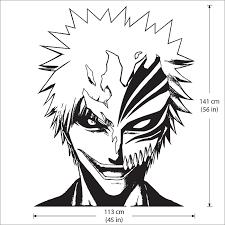 Bleach Ichigo Kurosaki With Hollow Mask Vinyl Wall Art Decal