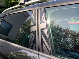 Mini F60 B Pillar Union Jack Decal Kit Installation Guide