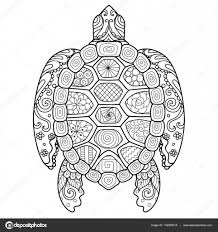 Zendoodle Stylize Of Beautiful Turtle For T Shirt Design Adult