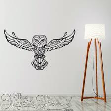 Tribal Owl Vinyl Wall Decal Spirit Animal Decals For Walls Windows
