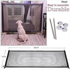 Yangel Portable Folding Safety Magic Gate Guard Mesh Fence Net For Pets Dog Puppy Cat Shopee Philippines