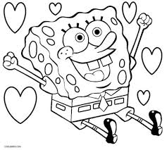 kids printable spongebob coloring pages