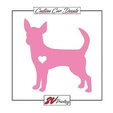 I Love Heart My Chihuahua Choose Color 10x4 Die Cut Decal Bumper Sticker Dog K9