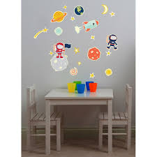 Zoomie Kids 21 Piece Glow In Space Wall Decal Wayfair