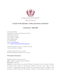 Page 1 - Loma Linda University Guides to Archival Collections ...