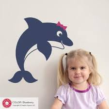 Jumping Dolphin Wall Decal Ocean Underwater Baby Nursery Kids Decor Graphic Spaces