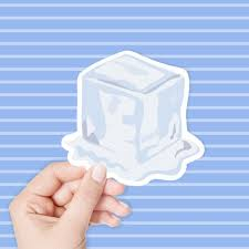 Melting Ice Cube Sticker Vinyl Stickers Laptop Stickers Etsy