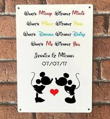 disney sign personalised mickey minnie mouse wedding engagement