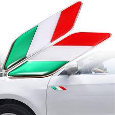 2pcs 3d Itllian Italy Flag Sticker Badge Emblems Decal Decor For Car Truck Laptop Sale Banggood Com