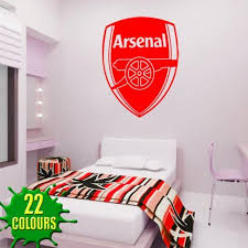 Arsenal Badge Wall Decal Art Stickers Football Sport Bedroom Nursery Playroom Medium Bedroom Wallpaper Red Wallpaper Bedroom Decal Wall Art