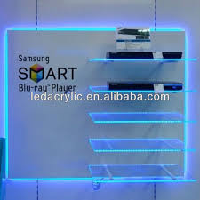 clear acrylic wall shelves