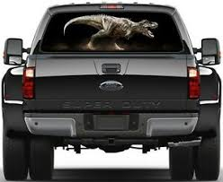 Dinosaurs T Rex Painting Rear Window Graphic Decal Truck Van Car Ebay