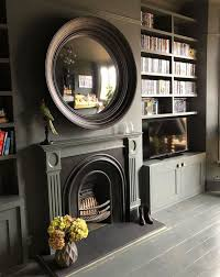 convex mirrors and fireplaces