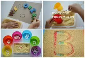 Zabawy sensoryczne z kaszą | Zabawy sensoryczne, Prace sensoryczne ...