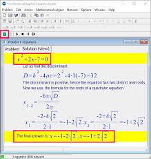 mathematical equation solver
