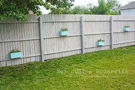 Planter Boxes On The Fence Stacy Risenmay