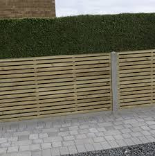 Contemporary Double Slatted Fence Panel W 1 83m H 0 9m Pack Of 4green In 2020 Slatted Fence Panels Fence Panels Gravel Patio Diy