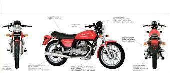 brochure moto guzzi v50 iii folded