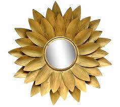 iron gold leaf decorative round wall