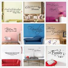 art words quote wall sticker family quotes wall decal home