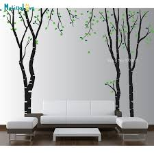 Large Birch Tree Decal Nursery Baby Room Decal Forest Theme Kids Decor Removable Vinyl Wall Stickers Poster Bb051 Wall Stickers Aliexpress