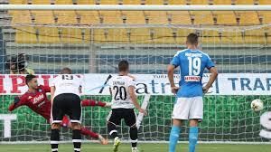 Cronaca e tabellino Parma v Napoli, Serie A. 22/07/20
