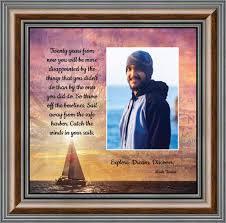 Discovery Sailing Motivational Wall Art Graduation Gift Framed Mark Twain Quotes 10x10 6393 Walmart Com Walmart Com