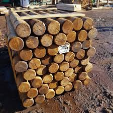 Machine Rounded Oak Landscaping Pole Buy Oak Poles And Posts Online From The Experts At Uk Timber