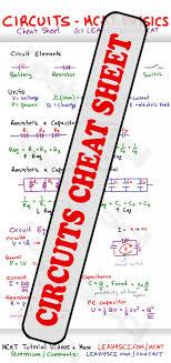 mcat circuits study guide cheat sheet