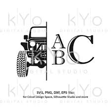 Jeep Monogram Svg Off Road 4x4 Jeep Svg Jeep Girl Team Shirt Design Kyodigitalstudio Com