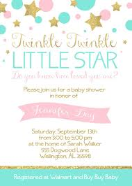 Twinkle Twinkle Little Star Baby Shower 5x7 Invitation Custom