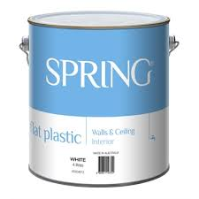 Spring 4l Flat White Interior Paint Bunnings Warehouse